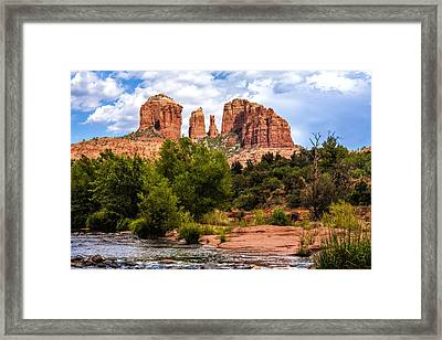 Cathedral Rock Framed Print by Fred Larson
