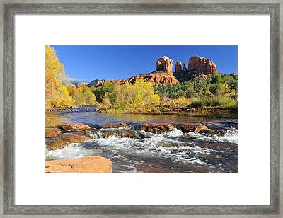 Framed Print featuring the photograph Cathedral Rock From Rock Crossing by Dan Myers