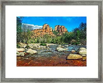 Cathedral Rock In Spring Framed Print