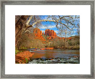 Cathedral Rock Framed Print by John Roberts