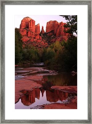 Cathedral Rock Framed Print by Kenan Sipilovic