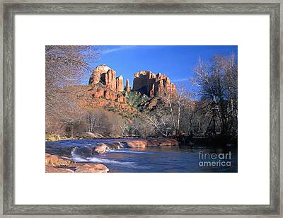 Cathedral Rock Framed Print by King Wu