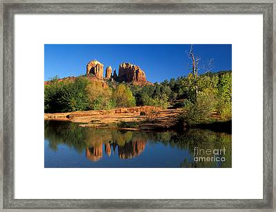 Cathedral Rock Framed Print by Mark Newman