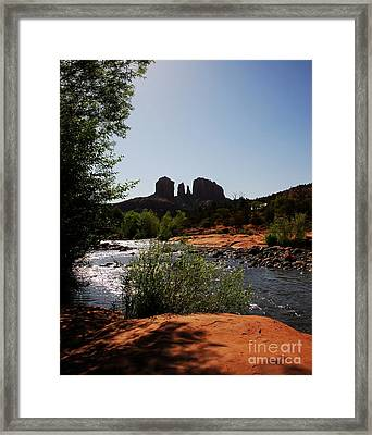 Cathedral Rock Framed Print by Mel Steinhauer