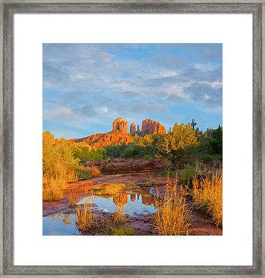Cathedral Rock Moon Framed Print