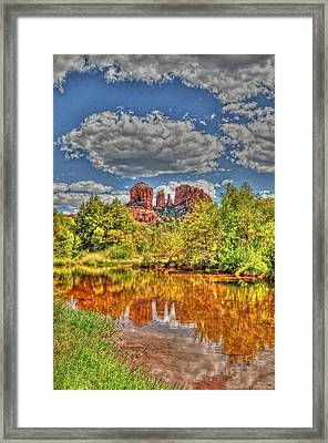 Cathedral Rock Painted Framed Print