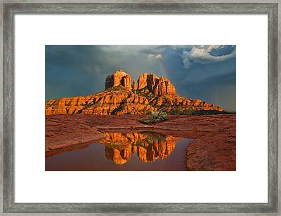 Cathedral Rock Rainbow Framed Print