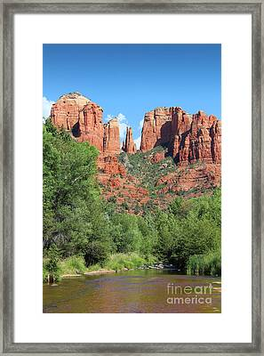 Framed Print featuring the photograph Cathedral Rock Sedona by Jemmy Archer