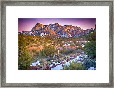 Cathedral Rock Sedona Framed Print by Shanna Gillette