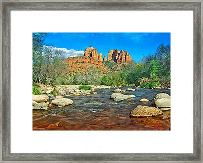 Cathedral Rock Sedona Framed Print by Steven Barrows