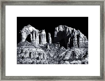 Cathedral Rock Shadows Framed Print by John Rizzuto