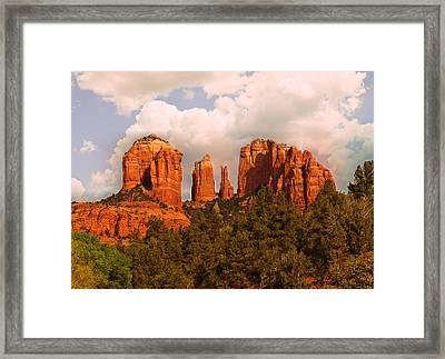 Cathedral Rock Sunset Framed Print by Bob and Nadine Johnston