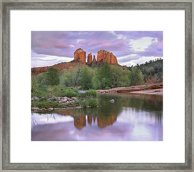 Cathedral Rock Framed Print by Tim Fitzharris