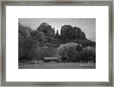 Cathedral Rock Vii Bw Framed Print by David Gordon