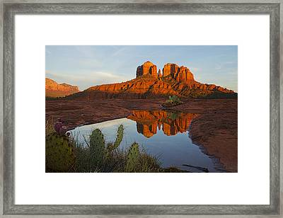 Cathedral Rock's Bath 0299 Framed Print