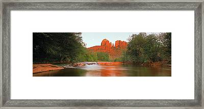 Cathedral Rocks In Coconino National Framed Print