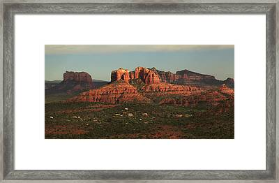 Framed Print featuring the photograph Cathedral Rocks In Sedona by Alan Vance Ley