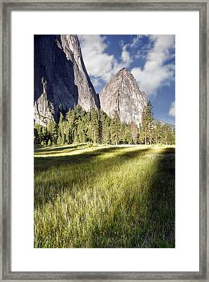Cathedral Rocks In Yosemite Valley Framed Print