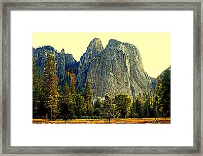Cathedral Rocks Framed Print by Lynn Bawden