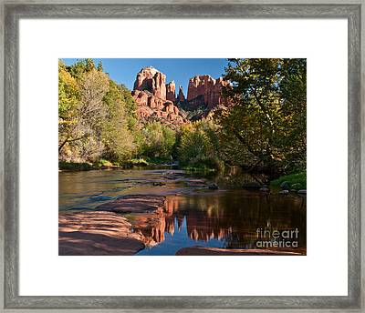 Cathedral Rocks Reflection Framed Print by Jim Chamberlain