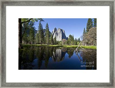 Cathedral Rocks Reflection Framed Print