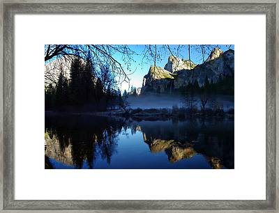 Cathedral Rocks Yosemite National Park Framed Print by Scott McGuire
