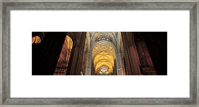 Cathedral Seville Andalucia Spain Framed Print by Panoramic Images