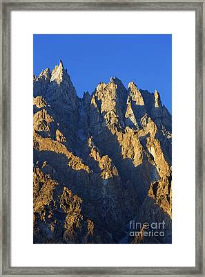 Cathedral Spires Mountain Peaks Karakorum Framed Print by Robert Preston