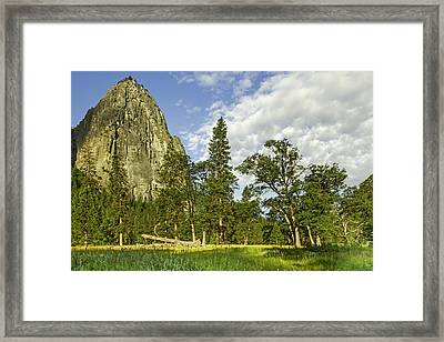 Cathedral Spires-yosemite Series 05 Framed Print by David Allen Pierson