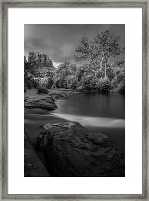 Cathedral Storm- Black And White Framed Print