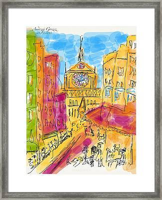 Cathedrale Notre Dame De Paris. I Love Paris - J Adore Paris . The Young Rebels Movement. Framed Print by  Andrzej Goszcz