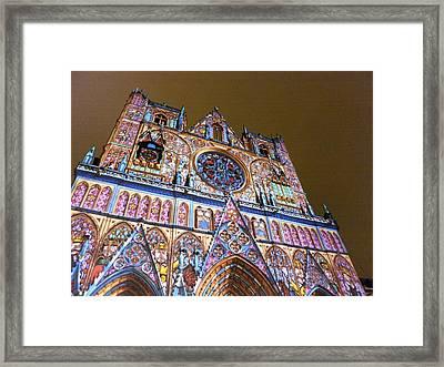 Cathedrale Saint-jean Illuminee Framed Print