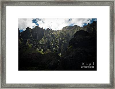 Cathedrals Na Pali Coast Framed Print