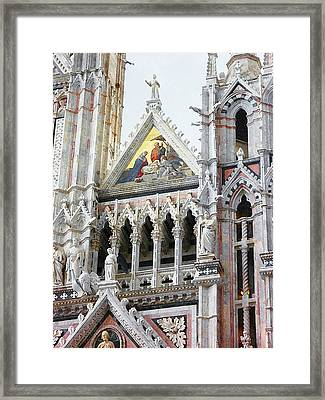 Cathedrals Of Tuscany Siena Italy Framed Print