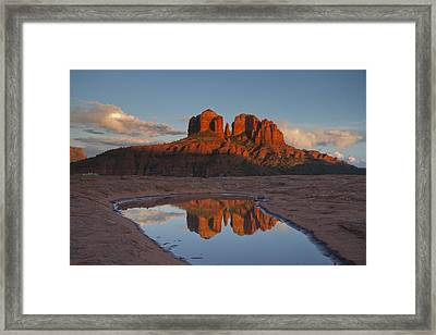 Cathedrals' Reflection Framed Print