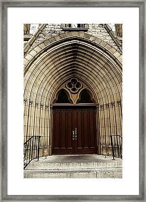 Catherdral Door's Framed Print