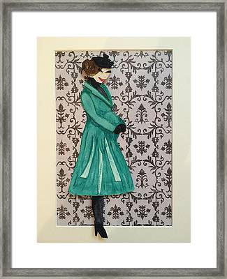 Catherine And The Royal Baby Framed Print by Monica Bielski