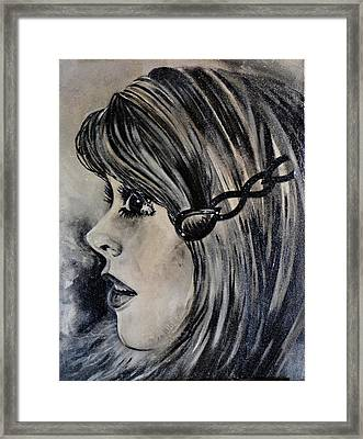 Catherine D. Framed Print by Sandro Ramani