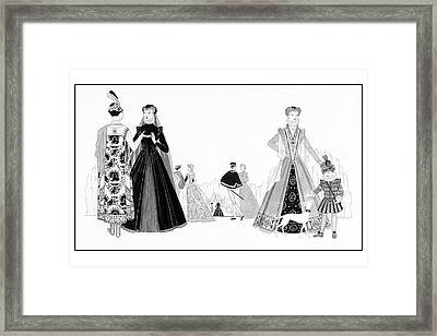 Catherine De'medici And Family Framed Print by Claire Avery