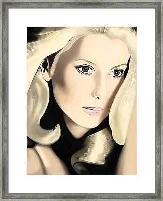 Catherine Deneuve Framed Print by Andrew Harrison