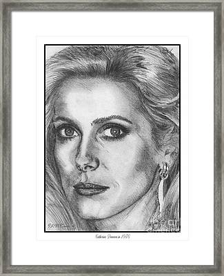 Catherine Deneuve In 1976 Framed Print by J McCombie