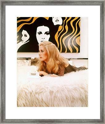 Catherine Deneuve In Hustle  Framed Print