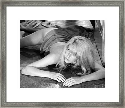 Catherine Deneuve In Repulsion  Framed Print by Silver Screen