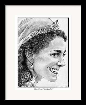 Duchess Of Cambridge Drawings Framed Prints