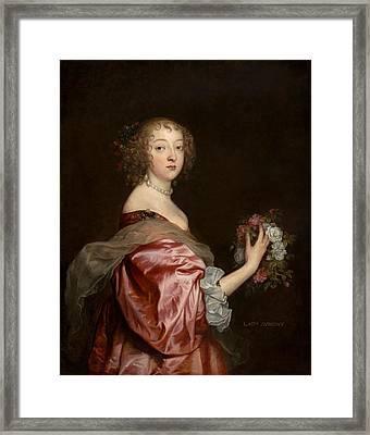 Catherine Howard Framed Print by Anthony van Dyck