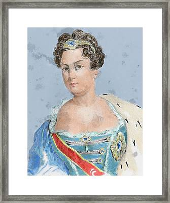 Catherine I (martha Skavronskaoa Framed Print