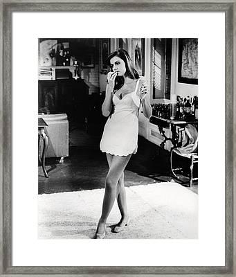 Catherine Spaak In Hotel  Framed Print