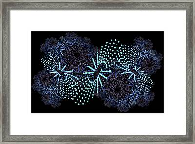 Framed Print featuring the digital art Catherine Wheels by Charmaine Zoe