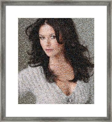 Catherine Zeta Jones Mosaic Framed Print by Bijan Studio
