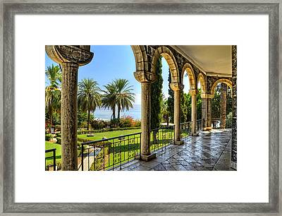 Catholic Chapel And The Sea Of Galilee Framed Print by Ken Smith